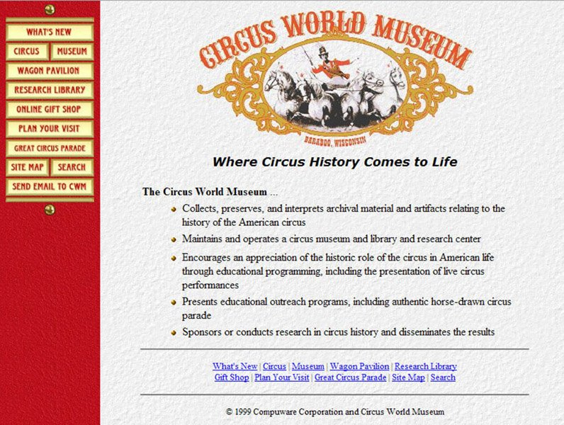 Circus World Museum Home Page