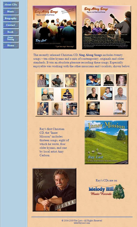 Ray Last Music Home Page