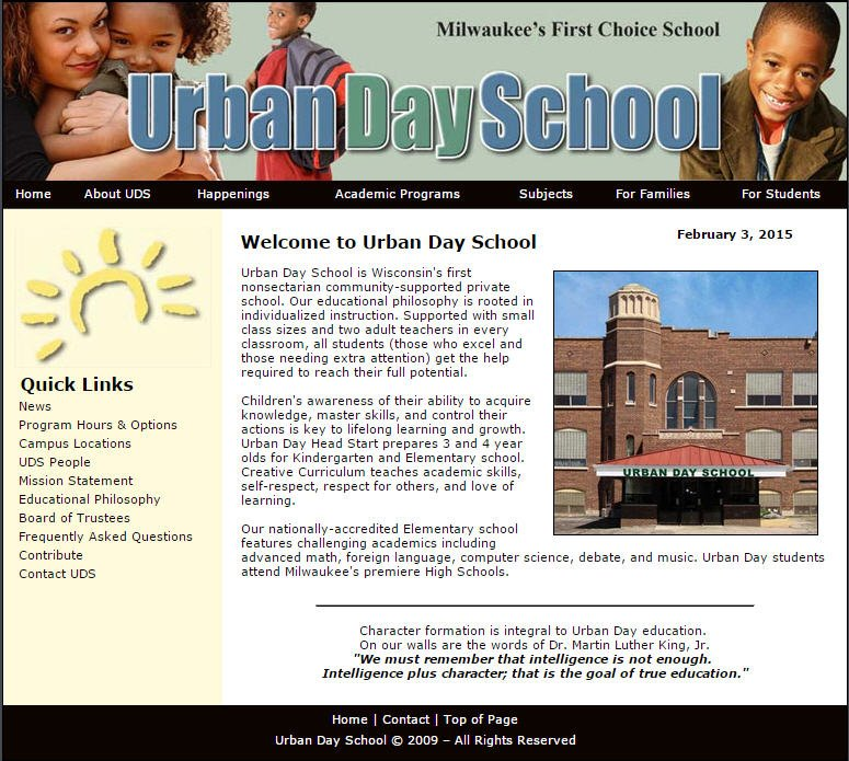 Urban Day School Home Page