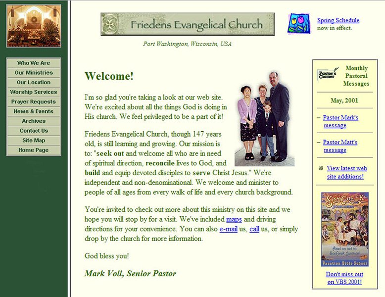Friedens Evangelical Church Home Page