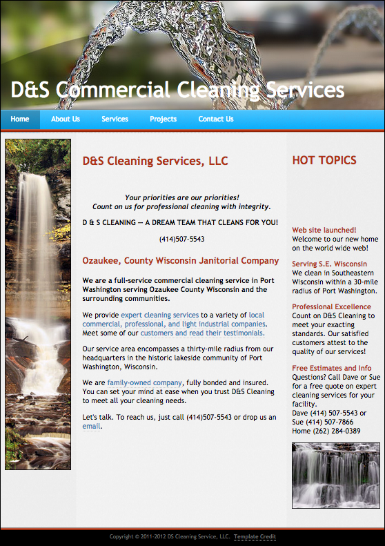D&S Commercial Cleaning Home Page