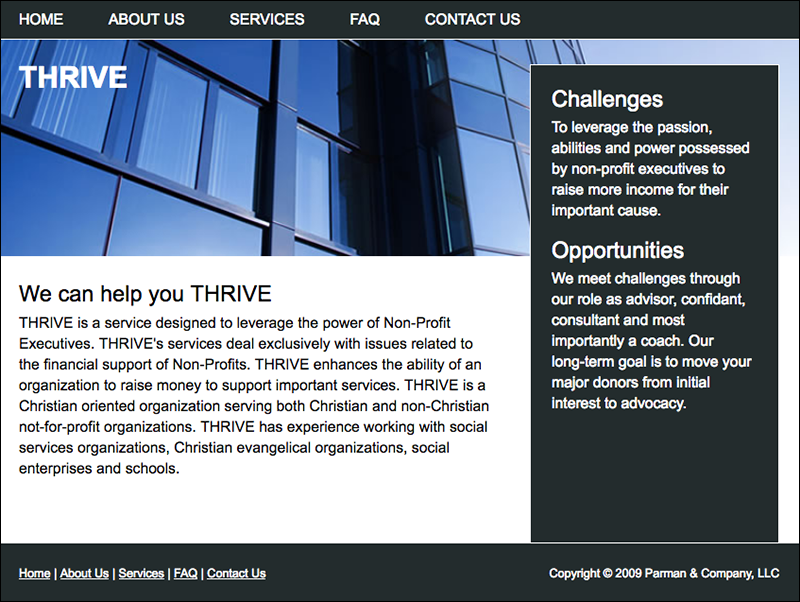 THRIVE Home Page