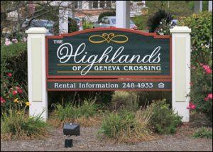 The Highlands Sign