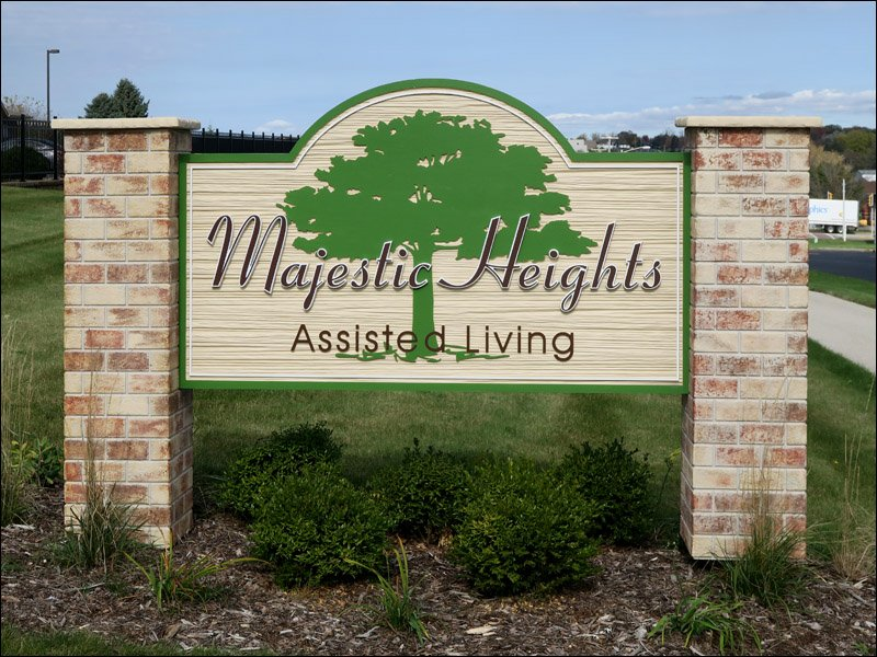 Majestic Heights Assisted Living Sign