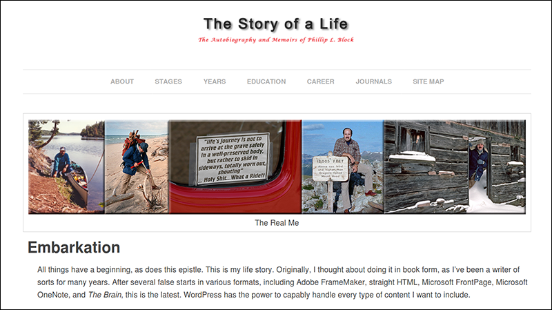 The Story of a Life – Home Page