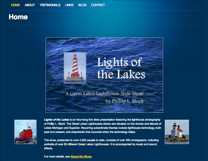 LightsoftheLakes.com Home Page