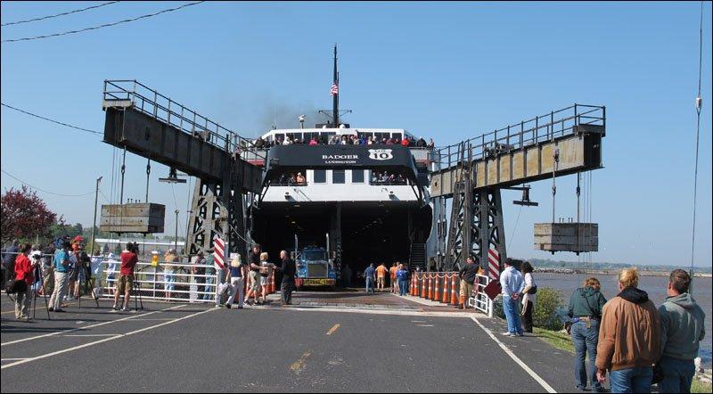 Disembarkation of passengers underway