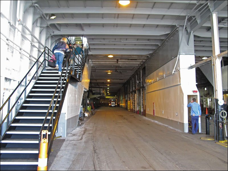 S.S. Badger vehicle deck