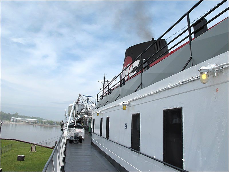 Aboard the S.S. Badger, port side, upper deck