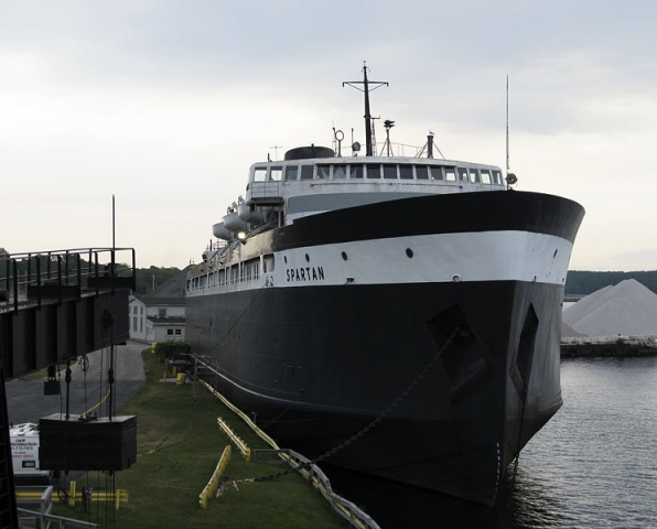 Abandoned S.S. Spartan car ferry