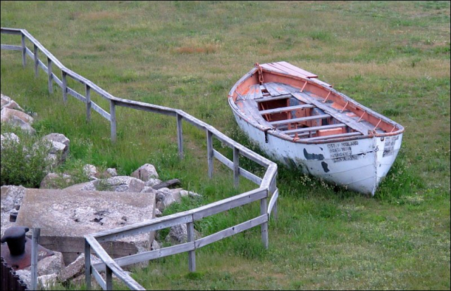 Old lifeboat from S.S. City of Midland