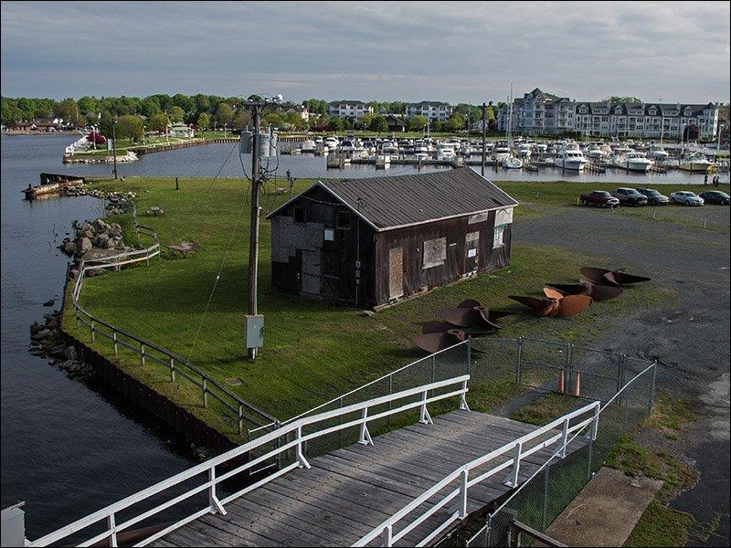 Ludington grounds; marina in background