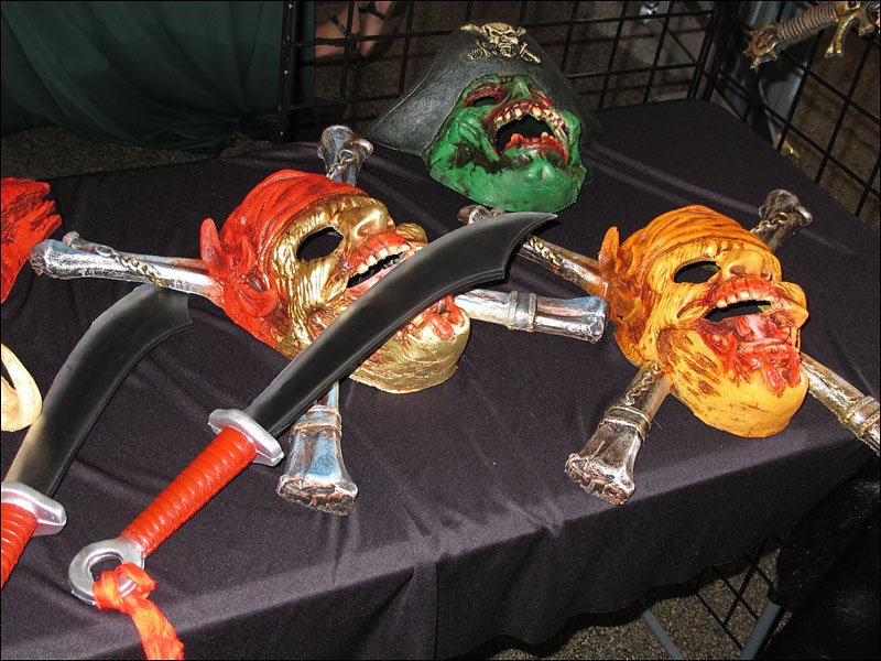 Masks and weapons