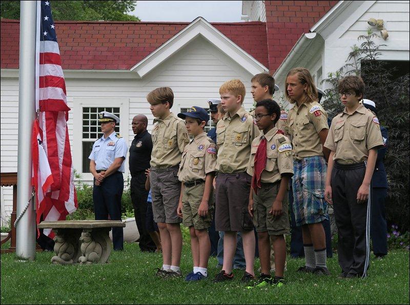 North Point Light Station – Flag Raising