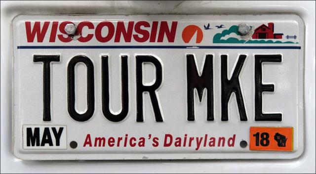 Tour Milwaukee License Plate