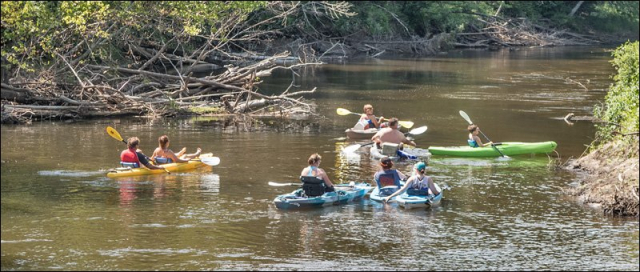 Kayakers on Musekgon River