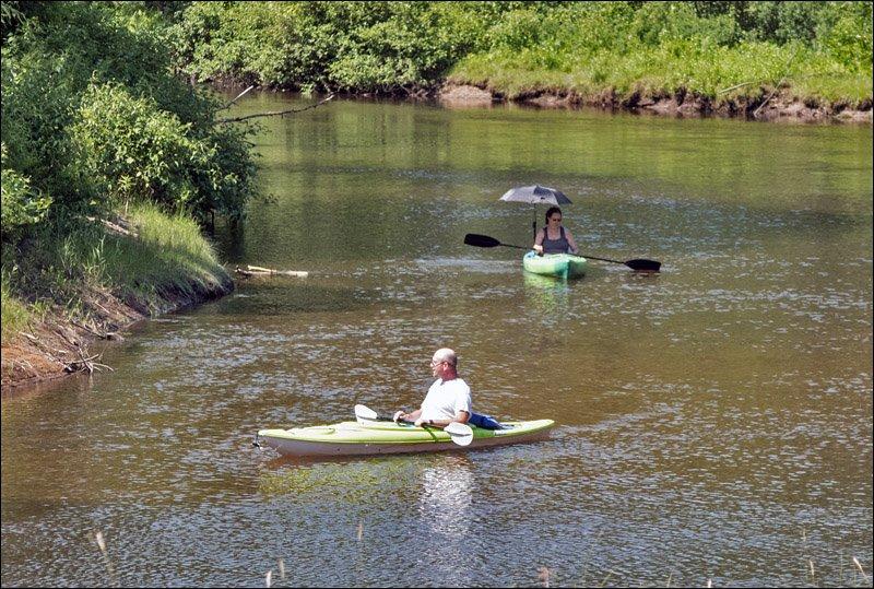 Kayakers on Muskegon River