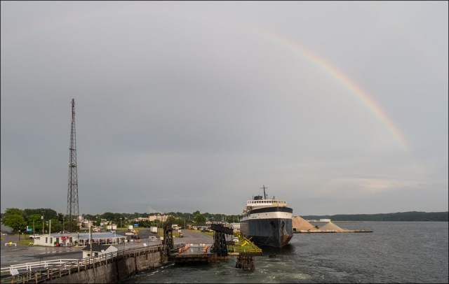 Rainbow Over Ludington Harbor