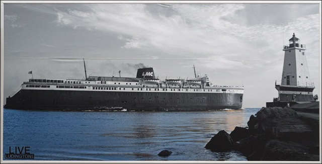 S.S. Badger Outbound from Ludington