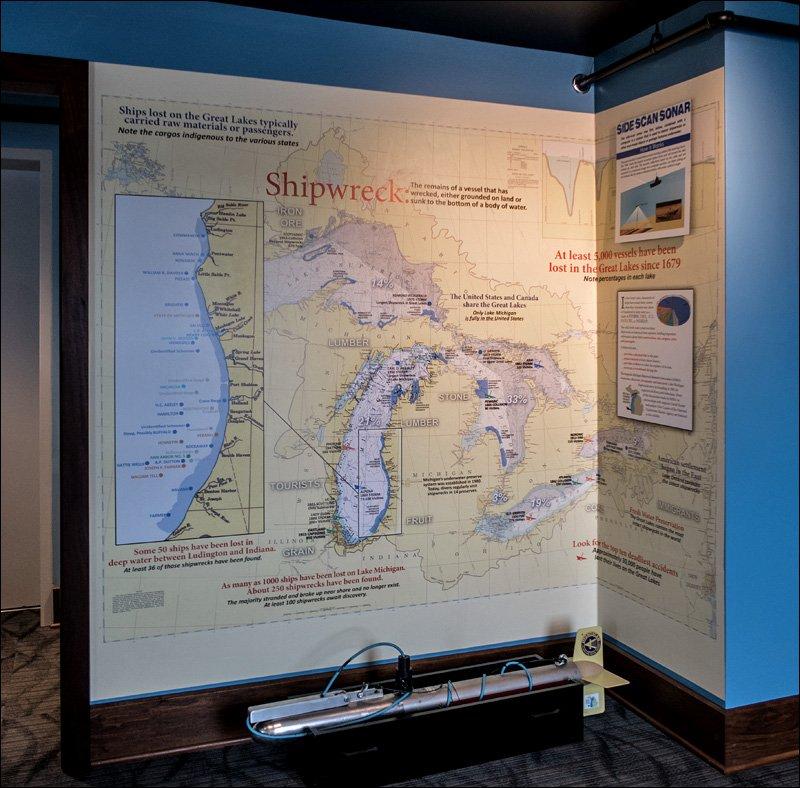 Lake Michigan Shipwreck Map