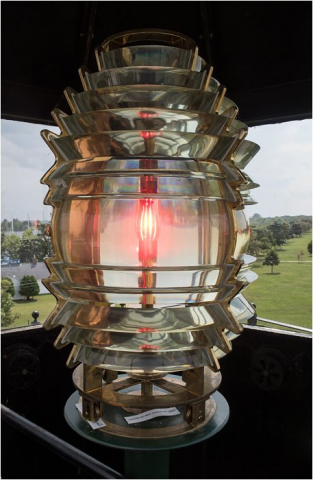 Sand Point Lighthouse - Replica Fresnel Lens in Tower