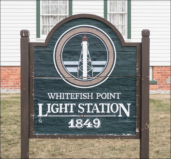 Whitefish Point Light Station Sign