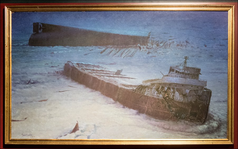 S.S. Edmund Fitzgerald Shipwreck Painting