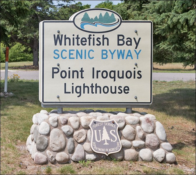 Point Iroquois Lighthouse Sign