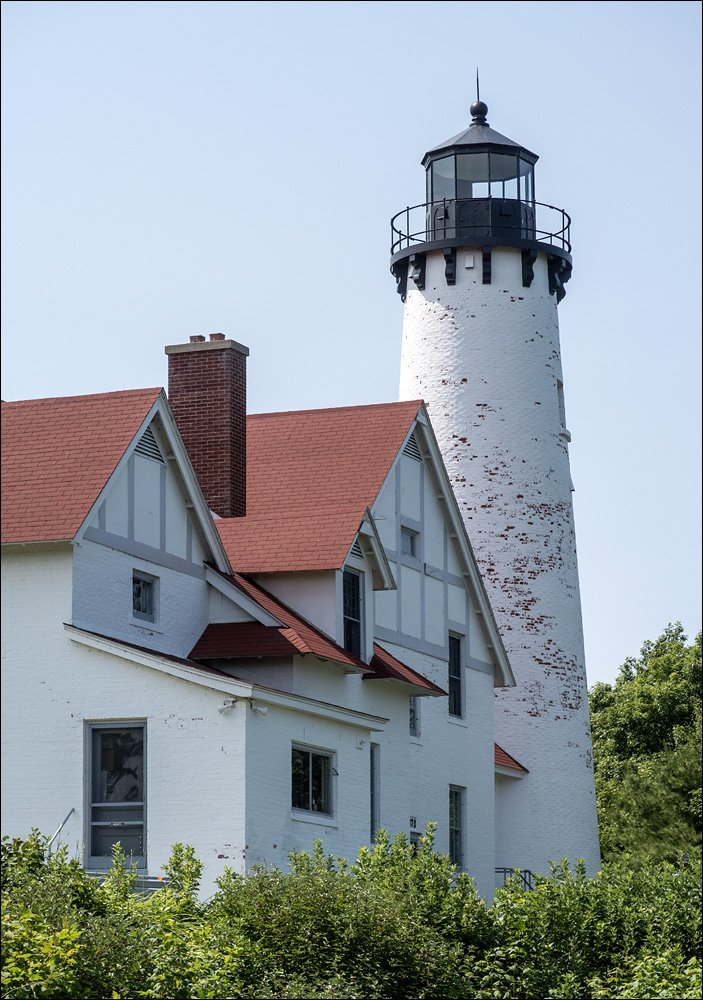 Point Iroquois Lighthouse - Northeast View