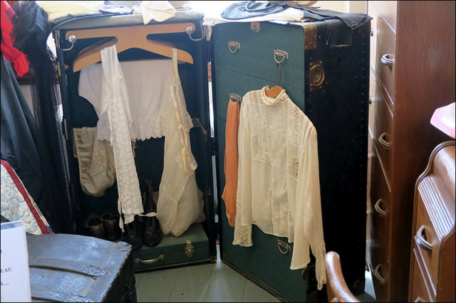 Steamer Trunk with Women's Clothing