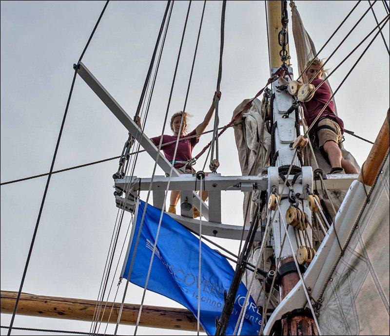 Crew Aloft on the on S/V Denis Sullivan
