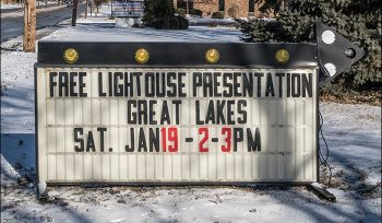 Outdoor Promotional Sign for Lights of the Lakes