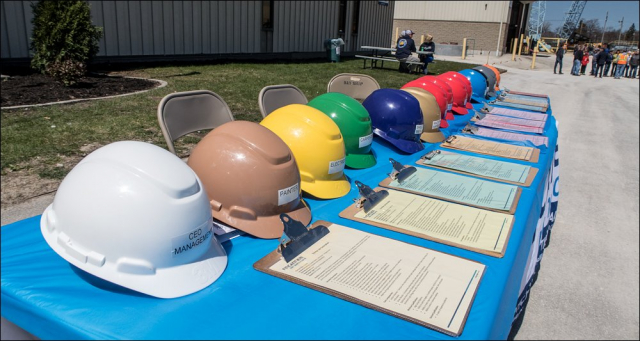 Color-coded hardhats