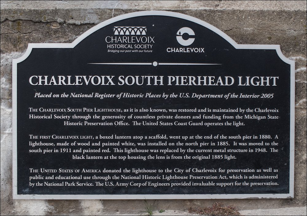 Charlevoix South Pierhead Light Sign