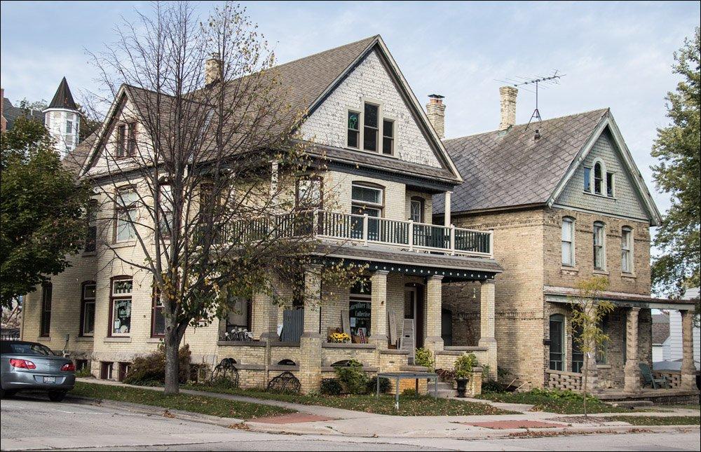 Classic Cream City Brick Houses