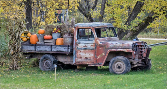 Decorated Vintage Jeep