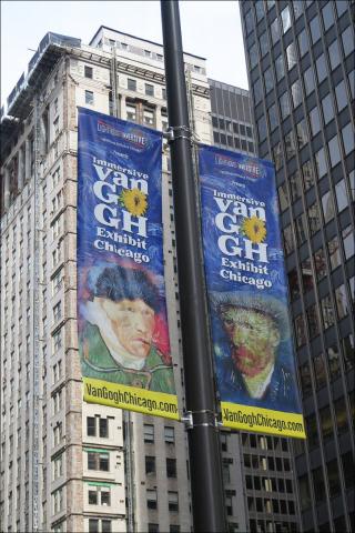 Van Gogh Exhibit Signs