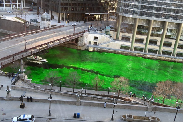 Chicago River Turns Green!