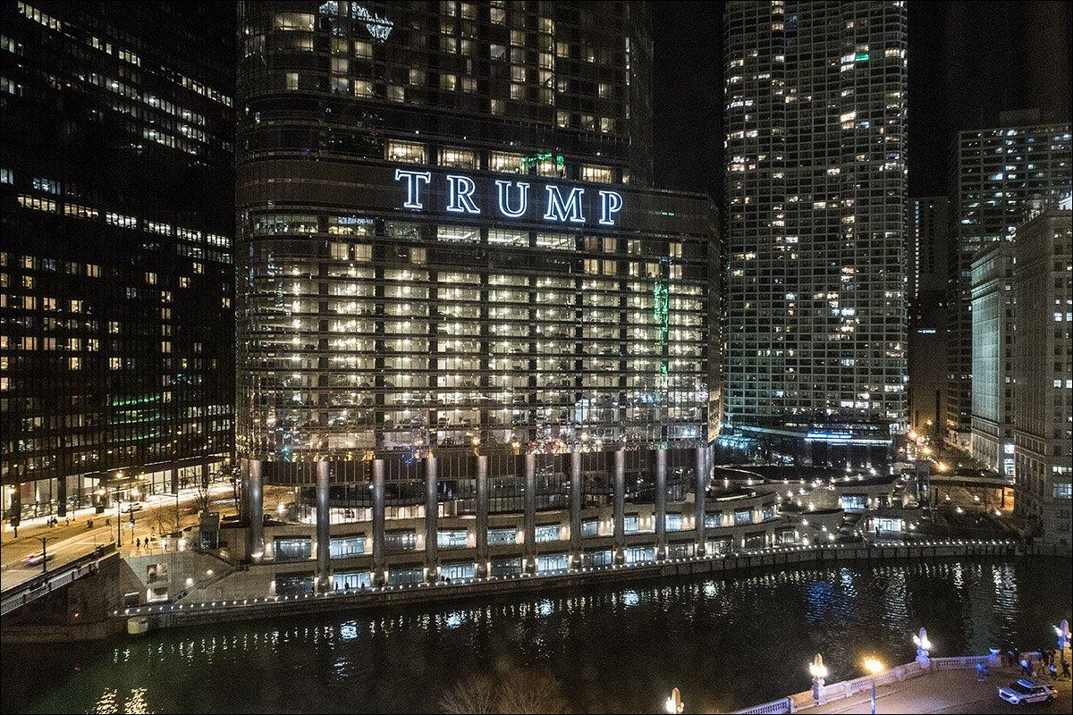 Trump International Hotel & Tower - After Dark