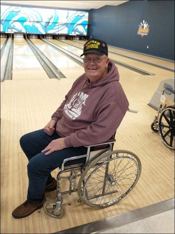Veteran Wheelchair Bowler